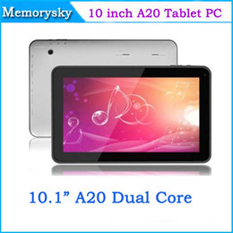 Wholesale Screen Protector Android - Allwinner A20 10inch Dual Core tablet pc 1024x600 1GB RAM 8GB ROM Android 4.2 Tablet PC HDMI USB Dual Cameras