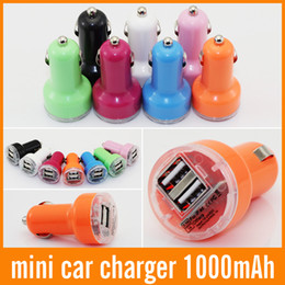 Usb Auto Car Canada - 2 port Dual USB Car Charger colorful 2.1A Auto Power Adapter universal for iphone for ipad for Samsung 500PCS
