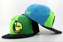 Wholesale Cheap Yums Snapback Hats - YUMS Snapbacks Green Snapback Fashion Snap Backs Hats Smile Face Summer Snap Back Caps Cheap Womens Mens Sports Cap Hip Hop Hats Mix Order
