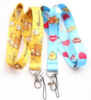 Wholesale Rilakkuma Key - Hot sale Free Shipping 30 Lot San-X Rilakkuma Relax Bear PHONE LANYARD KEYS ID NECK STRAPS Wholesale