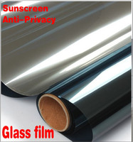 Wholesale Carbon Fiber Vinyl Wholesale - Home Decor Mirror Silver Unidirectional Sunscreen Window Film , Auto Glass Protective Film Protect Anti-Privacy Curtain Top Quality
