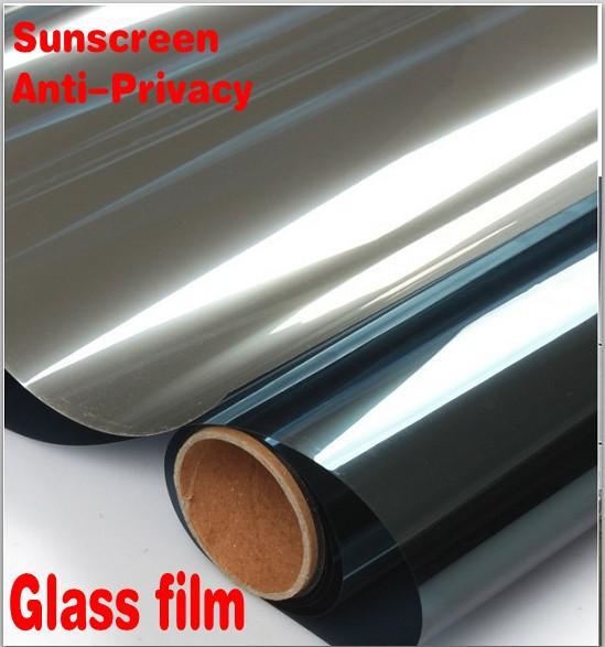 Decoración para el hogar Espejo de plata Película de la ventana de protección solar unidireccional, Auto Protector de película de vidrio Cortina anti-privacidad de calidad superior