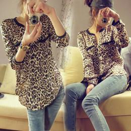 Wholesale Wholesale Leopard Print Shirts - New 2017 Fashion Women Shirt Casual Leopard Star Shirt Autumn-Summer Shirt Winter Woman Print S M L XL XXL XXXL 976