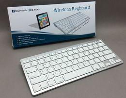 Wholesale Thinnest Keyboard For Ipad Mini - Mini Ultra Thin 2.4Ghz Bluetooth Wireless Keyboard For Android Tablet PC Macbook Mac iPad 2 3 4 Mini Air iPhone 5C 5S 5G 4S