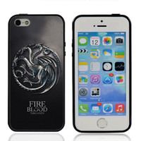For Apple iPhone blood sampling - Hot Sale Game of Thrones Fire And Blood Targaryen Case for iPhone Soft TPU Edges Hard PC Back Cover For iPhone s A0028