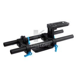 Wholesale Dslr Base Plate - Fotga DP500 II Base Plate DSLR Rail 15mm Rod Support System Rig For Mattebox Follow Focus 5D Mark ll III Canon Nikon
