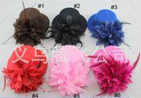 Wholesale Top Hat Clip 13cm - 7PCS LOT Fashion Fascinators 13cm Mini Top Hat Hair Clips, Wedding Party Hair Accessories