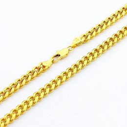 Chinese  Unique Men's Necklace 24K Gold Plated Jewelry Newest style 6.5mm width Curb Men's Chain Necklace 52cm 1pcs Fashion Hot Sale manufacturers