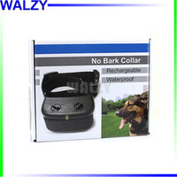 Wholesale Electronic Bark Stop Collar - H-166 Rechargeable waterproof Dog Anti Bark Electronic Stop Barking pet training Collar Adjustable sensitivity intensity Drop Shipping
