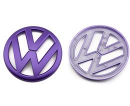 2019 ford chrom-logo Brandneues Heck Standard Heck Logo für Volkswagen Golf 6 GTI neuer POLO MAGOTAN CC R36 modifizierter Anhänger Galvanik mattorange ABS 11CM