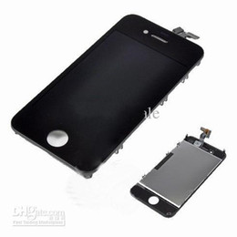 Wholesale Iphone4 Lcd Digitizer Assembly - For iphone 4 4s completed touch digitizer+ lcd screen assembly display replacement for iphone4 iphone4s good quality