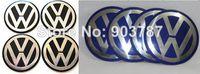 Wholesale 55mm Wheel Caps Sticker - 20pcs lot Alloy 3D VW Wheel Center Cap Sticker 90mm 55mm 56mm 60mm 65mm 70mm black   blue Badge wholesale volkswagen