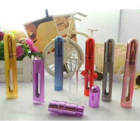12 ml Metal Kabuk Cam Iç Alüminyum Memesi mini Parfüm Sprey Taşınabilir Şişe Seyahat renkli ücretsiz kargo