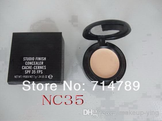 Toptan Satış - Ücretsiz Nakliye, Yeni Stüdyo Kapatıcı Önbellek-Cernes SPF 35 FPS 7G Kutusunda 24 adet / grup Karışımı Renk