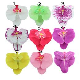 Le teste di orchide all'ingrosso online-Commercio all'ingrosso - decorazione artificiale dei fiori dell'orchidea della decorazione di cerimonia nuziale dell'orchidea del fiore dell'orchidea