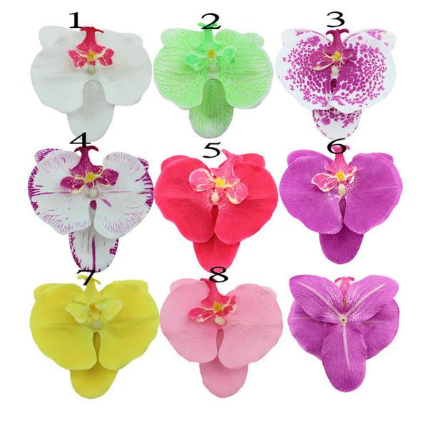Оптово - искусственный цветок орхидеи глава свадебный декор аксессуары для волос орхидеи искусственные цветы украшения