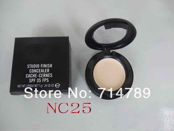 Wholesale - Free Shipping,New Studio finish concealer cache-cernes spf 35 fps 7g in box (48pcs/ lot)