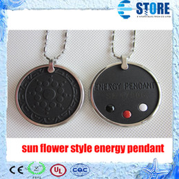 Wholesale Flowers Free Delivery - Sun flower Style Quantum Scalar Energy Pendant with Stainless steel Circle & Authenticity Card, Fast delivery,Free Shipping,wu