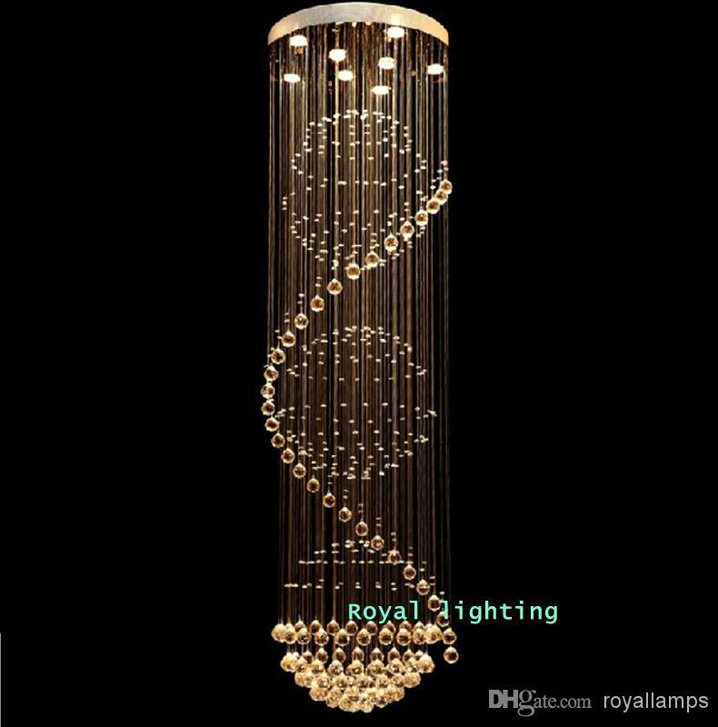 Big stairway crystal chandelier led lamps long creative europe big stairway crystal chandelier led lamps long creative europe crystal led lightsluxury hotel hanging light living room chandeliers pendant lights for aloadofball Choice Image