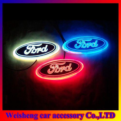 New Arrival 4D EL Led Car Logo Decorative Lights For Ford ...