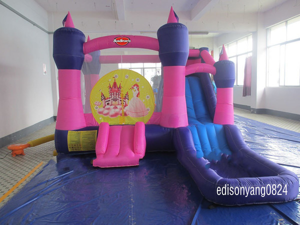 best selling Inflatable princess jumping castle with slide  inflatable bouncer inflatable product bounce house(Material is oxford fabric)