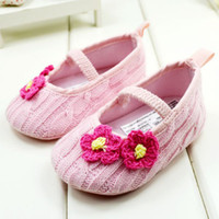 bebeğin ayakkabıları toptan satış-Sevimli Pembe Renk Prenses bebeğin Kız İlk Walker Ayakkabı Pamuk Bebek Ayakkabıları 0-24 M Toddler Ayakkabı 11-12-13 6 çift / grup GX259