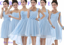 Wholesale Mix Flower Pictures - Cheap!2017 new Mixed bridesmaid Graduation Dresses sexy dress, cocktail dress Homecoming Dress, Short party dress, evening dress Customized