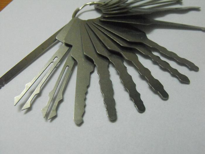 keys Locksmith Tools lock pick Jigglers for Double Sided Lock,Auto Jigglers for car opening