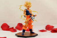"""Wholesale One Piece Cool Action Figures - Japanese Cool 6.8"""" Dragon Ball Z Anime Super Saiyan Son Gokou 17cm 6.8"""" PVC one piece action figure Model Collection Toy Gift"""
