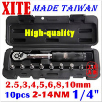 "Wholesale Repair Kit Set Bicycle - Taiwan XITE 1 4""DR 2-14Nm 10 piece torque wrench Bicycle wrench bycicle bike tools kit set tool bike repair spanner original wholesale free"