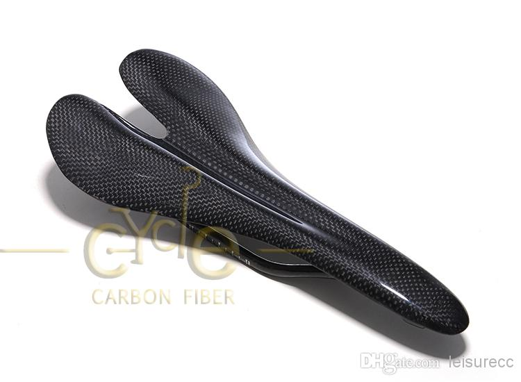 Lightweight Glossy Full Carbon Fiber Saddle for MTB Road Bike Seat Matt Black