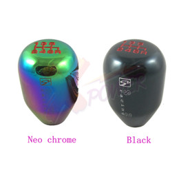Wholesale Acura Racing - Xpower Wholesale - Skunk2 6 SPEED RACE SHIFT KNOB FOR ACURA FOR HONDA CIVIC (M10X1.5)-Black,Neo chrome