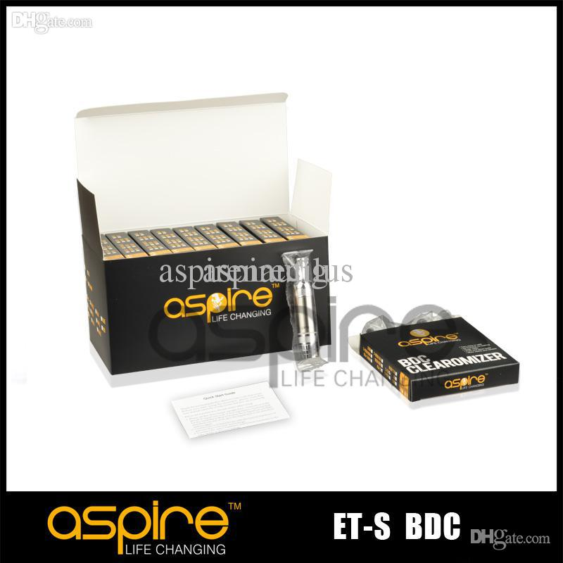 Wholesale - Atomizer Aspire ET S BDC Clearomizer Bottom Dual Coil Aspire BDC ETS Atomizer for electronic cigarette replacement tank DHL Free