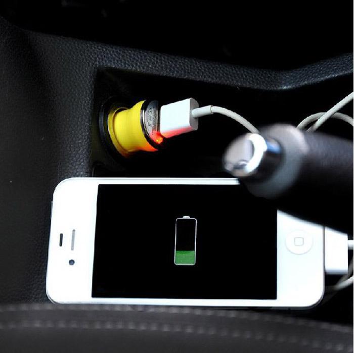 Carregador de carro Mini Carregador Portátil Único USB Car USB Charger DHL Navio Livre