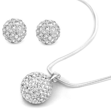 10pcs / lot 10mm argile de cristal chaud perle disco strass ensemble collier boucles d'oreilles boucles d'oreilles déposez bijoux ensemble vente chaude
