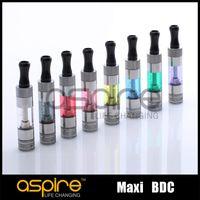 aspire bvc doppelspulen großhandel-Großhandel - Aspire Maxi BVC Clearomizer 1.8ohm Doppelspulenzerstäuber Aspire Maxi BDC Zerstäuber 100% Original