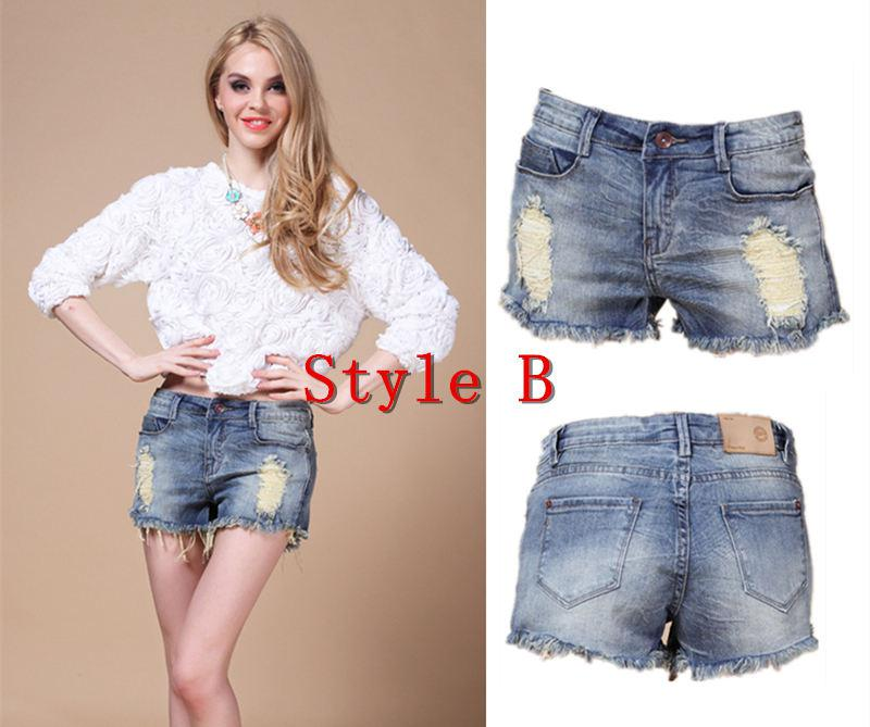 2017 Wholesale 4 Styles Classics Fashion Block Shorts Jeans Hot ...