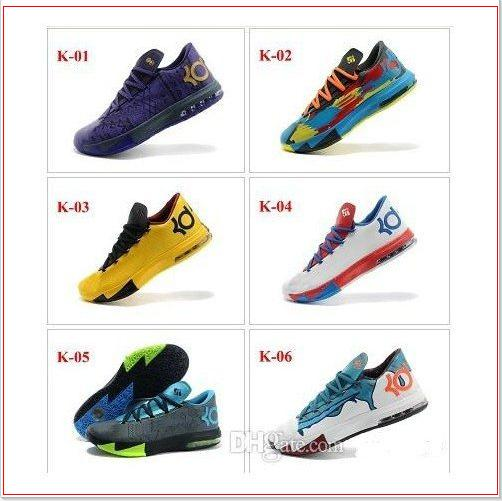 815369955276 Kevin Durant VI KD 6 Mens Basketball Shoes Sports Shoe KD VI 6 Away 2 II  Vivid Sneakers Lace Up Running Shoes Size 8 12 Men Basketball Shoes Shoes  Mens ...