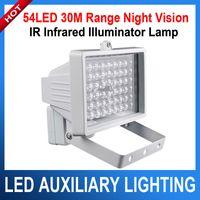 Wholesale Ir Illuminator For Camera - 30m 54 LED 12V 8W Night Vision IR Infrared Illuminator Light lamp LED Auxiliary lighting For Security CCTV Camera