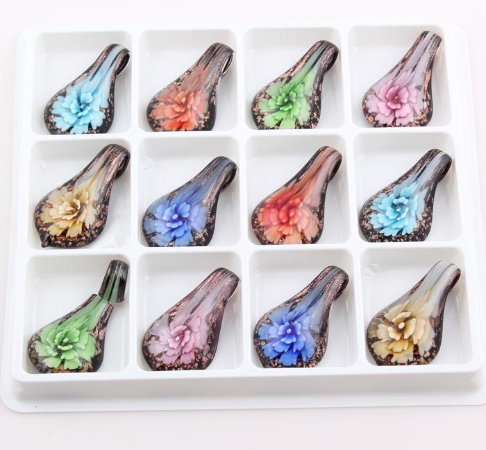 Compre colores mezclados pendientes de cristal del vidrio de murano compre colores mezclados pendientes de cristal del vidrio de murano de la gota del vidrio de murano de la gota de cristal para el envo libre zbe202 del aloadofball Choice Image