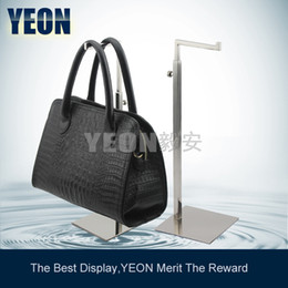 displays for boutiques NZ - YEON Stainless steel polish mirror clutch bag display stand handbag rack hanger for boutique store,10pcs lot bulk order available