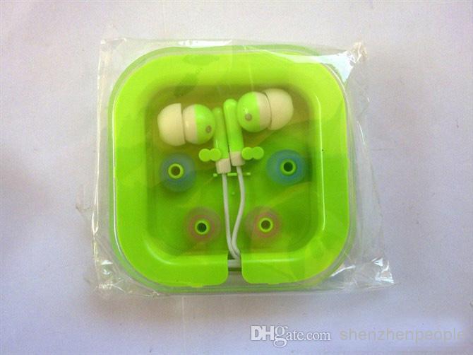 Auricolari auricolari in-ear cuffie cellulari MP3 MP3 Microfono Microfono 3.5mm Audio con imballaggio Spedizione DHL GRATIS