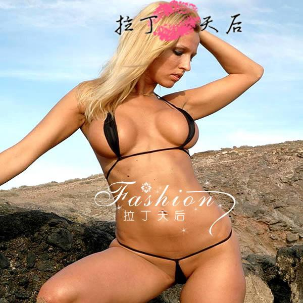 a6ed8240588eb 2019 2014 Summer European Women Extreme Hot Sexy Invisible Tiny Mini Micro  Bikini Swimwear Beachwear Set Top And Bottom G String Thong Swimsuits From  ...