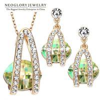 Wholesale Swarovski Elements Bridal Sets - Neoglory Jewelery Accessories MADE WITH SWAROVSKI ELEMENTS Crystal Bridal Jewelry Sets Necklace & Earrings Wedding Bijoux Gifts