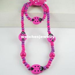 Wholesale Handmade Fashion Earrings - Handmade jewelry! Lovely beetle jewelry set chilren kid baby girl's necklace bracelet Fashion jewelry N CS28