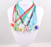 Wholesale Murano Glass China Wholesale - Murano Lampwork Glass Heart Pendant Necklace Free Shipping Wholesale ZN69