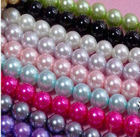 FASHION SCHMUCK Durchmesser 12mm Multicolor Runde Perle Imitation Glas lose Distanzscheiben-Korn .Drop .beads sale.350PCS / LOT