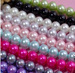 Wholesale Glass Imitation Pearl Beads Wholesale - FASHION JEWELRY Diameter 12MM Multicolor Round Pearl Imitation Glass loose spacer Bead .drop shipping .beads sale.350PCS LOT