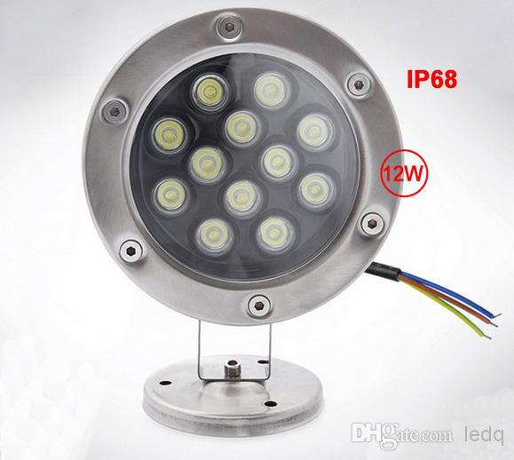 LED Undervattenslampa 3W 6W 9W 12W DC 12V FloodLight Outdoor Waterproof IP68 Spot Light Lampor Lampor Belysning Varm Vit Kall Vit Pond Bulb