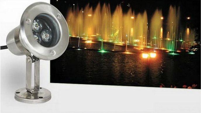 MOQ10 IP68 LED Lumières sous-marines 3W 6W 9W 12W DC12V AC85-265V Spot d'inondation pour étang d'éclairage Éclairage blanc chaud Blanc froid Lumières CE ROSH-Express